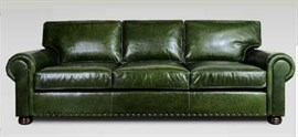 3A MOBİLYA REAL LEATHER GREEN LUXURY KANEPE