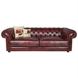 3A Mobilya Real Leather Chesterfield