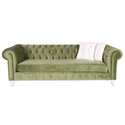3A Mobilya Long Green Chesterfield